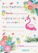 Flamingo Party Invitations Pack of 20